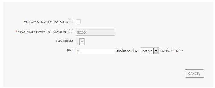 Auto-pay set up