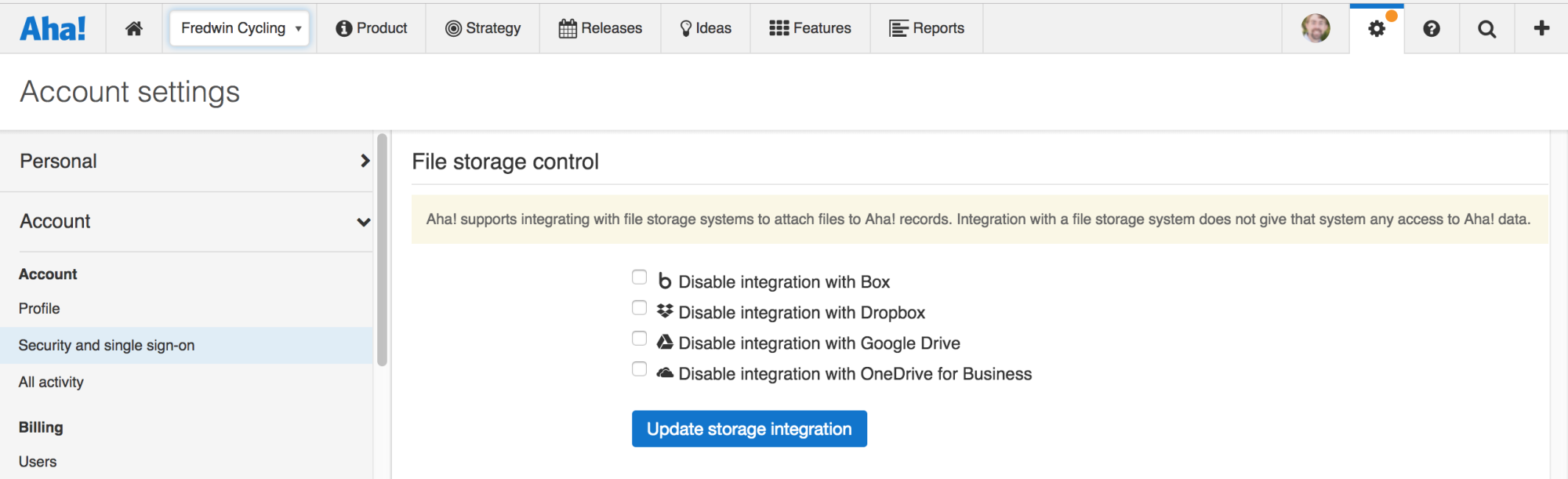 Support - Integrate Aha! with Google Drive - inline image
