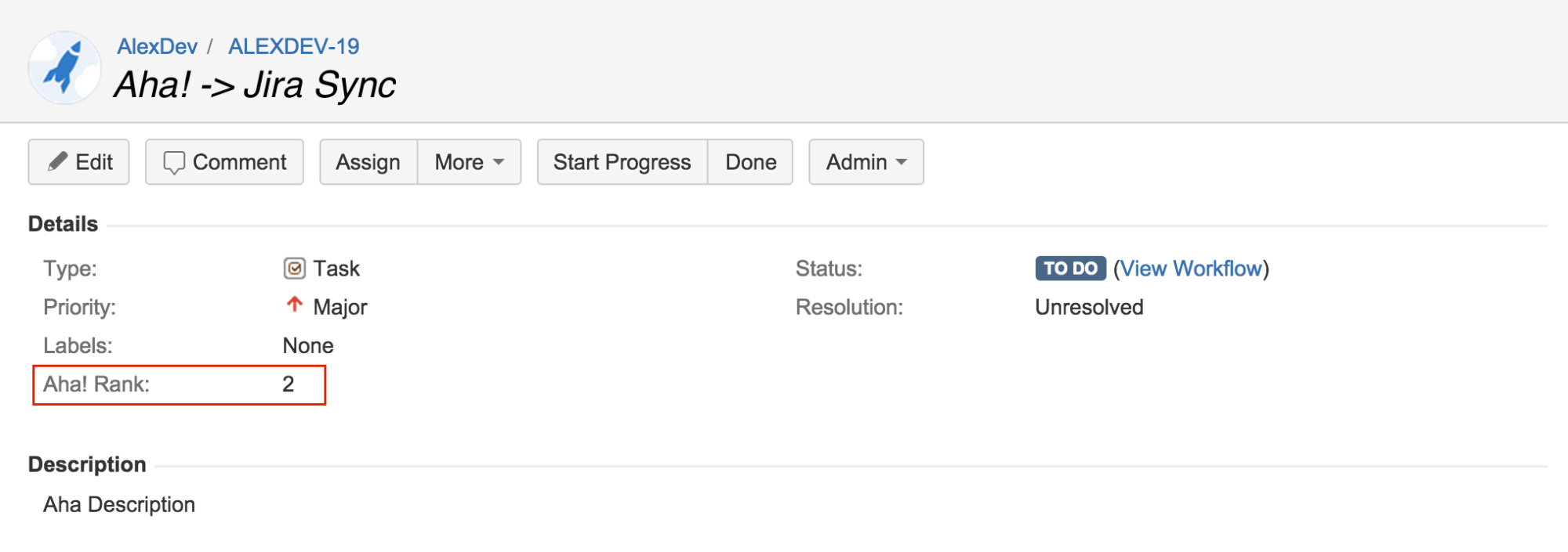 Blog - Send the Development Priority of Your Features from Aha! to Jira - inline image