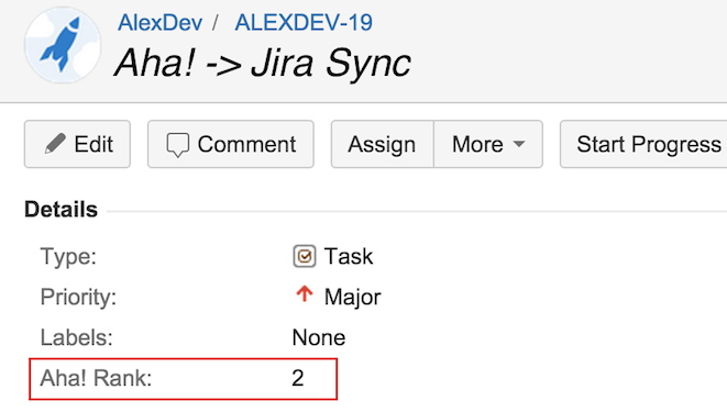 Send the Development Priority of Your Features from Aha! to Jira