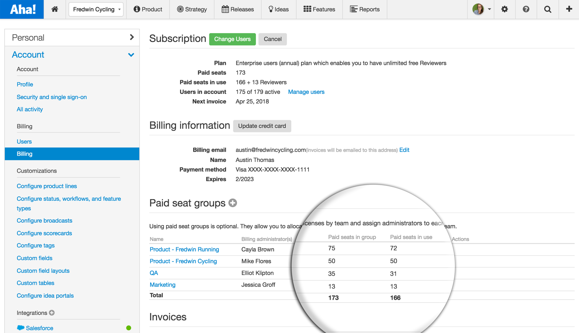 Blog - Just Launched! — Manage Your Aha! Licenses Across Teams - inline image