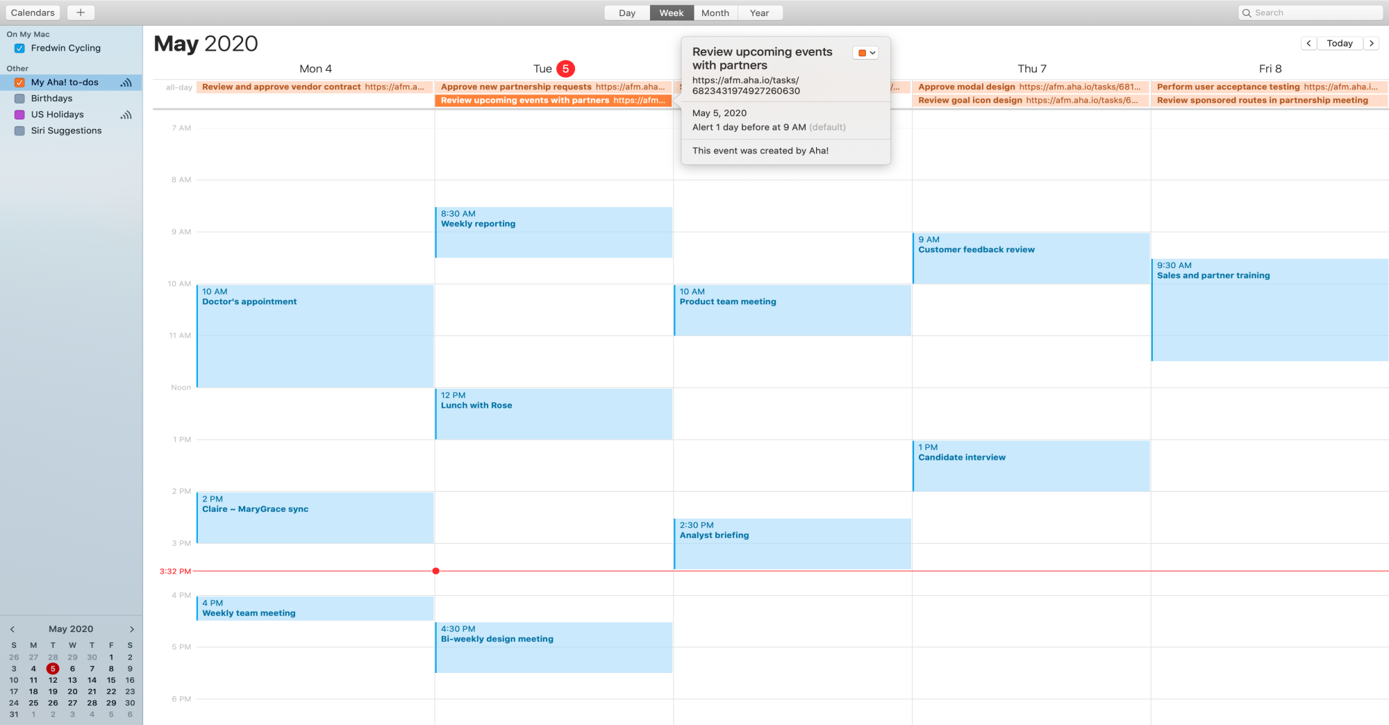 Support - Integrate with Apple Calendar - inline image
