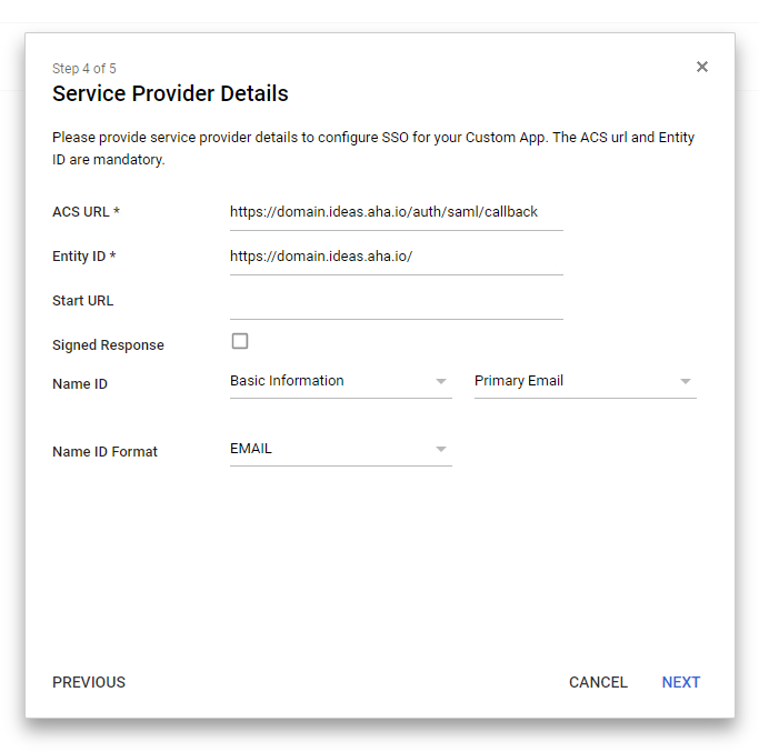 Support - Configure single sign-on for your ideas portal with G Suite by Google Cloud - inline image