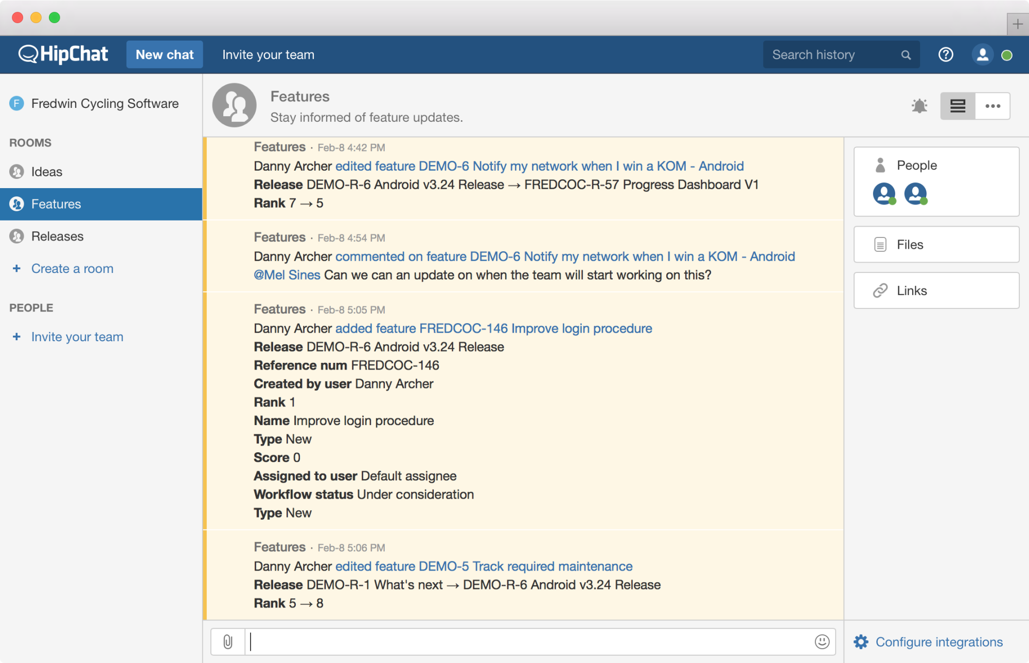 Blog - Just Launched! — Aha! Integrated With Atlassian HipChat Cloud and Server - inline image