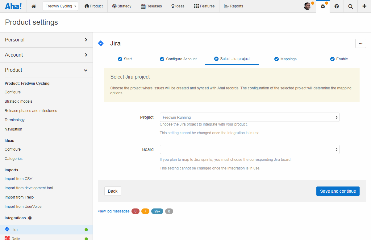 Support - Sync sprints between Aha! and Jira (integrations 2.0) - inline image