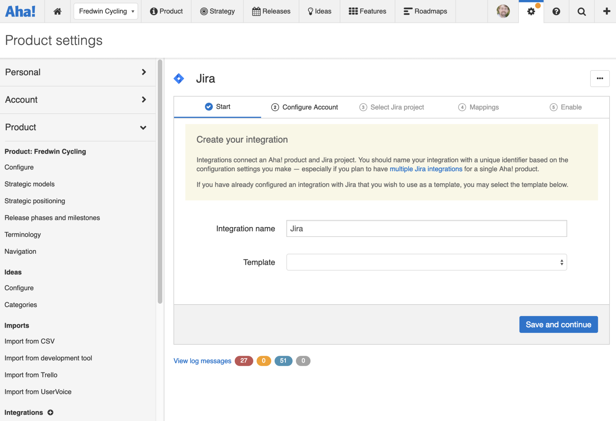 Support - Integrate Aha! with Jira (integrations 2.0) - inline image