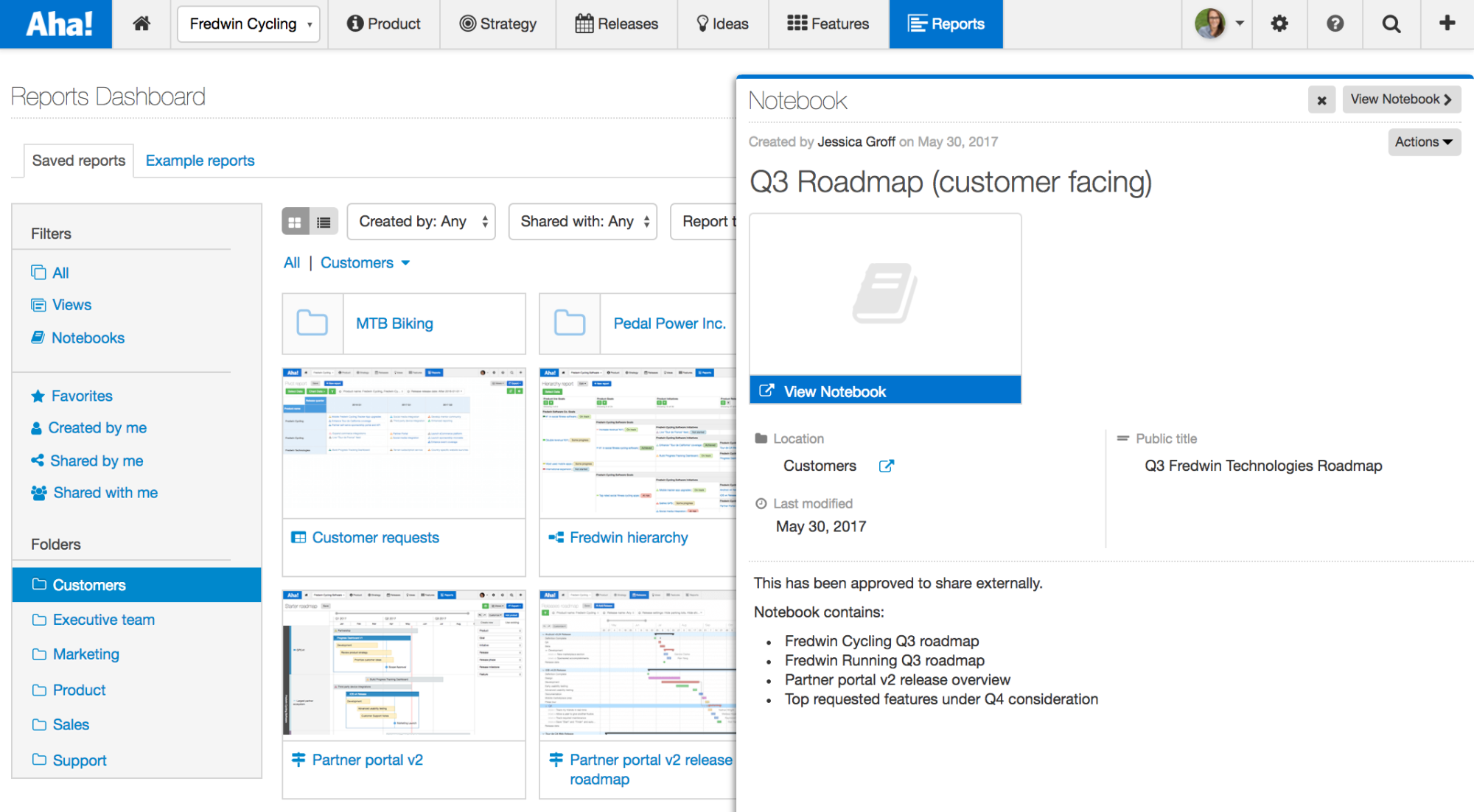 Blog - Just Launched! — The New Reports Dashboard for Product Management - inline image