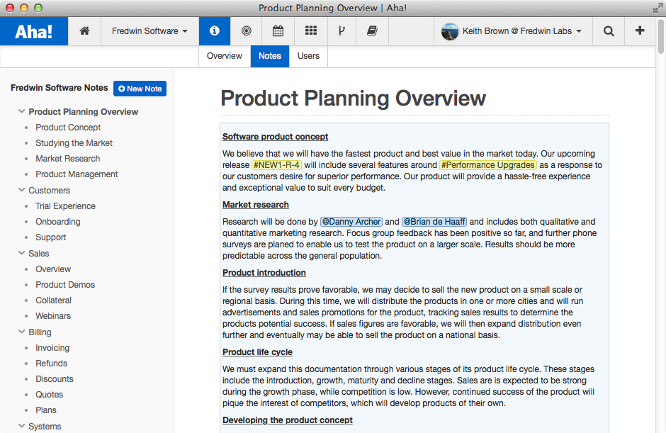 Blog - New Aha! Notes for Better Product Team Collaboration - inline image