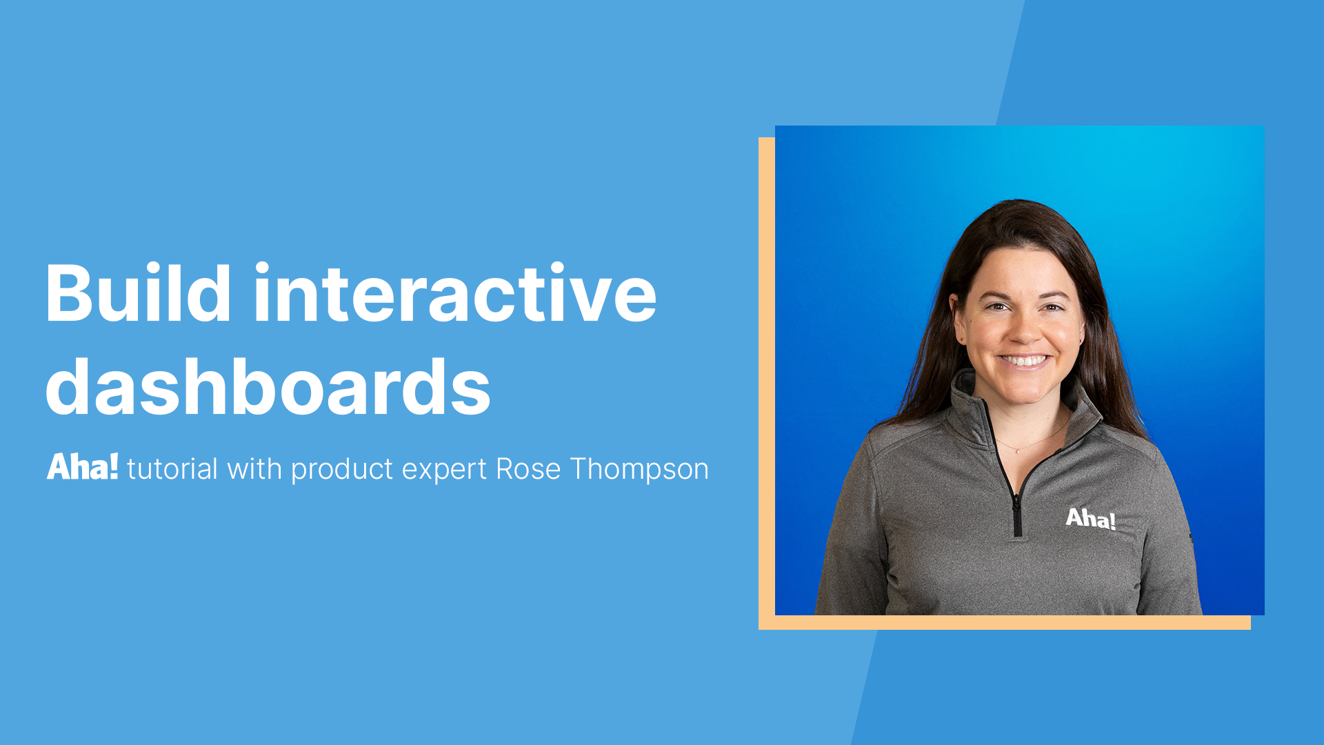 Build interactive dashboards