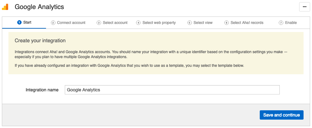 Integrate Aha! with Google Analytics
