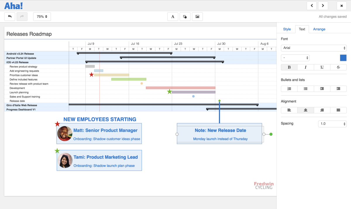 Just Launched! —  A New Presentation Editor to Showcase Beautiful Product Roadmaps