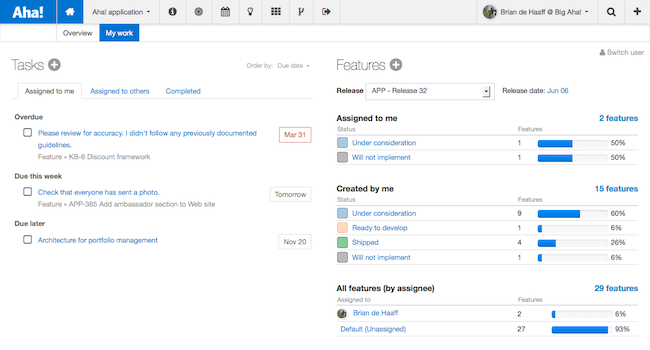 Manage Tasks, Assign Features, and Track the Product Team's Work