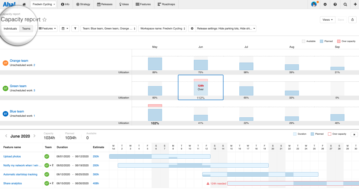 Just Launched! — Introducing Capacity Planning for Teams