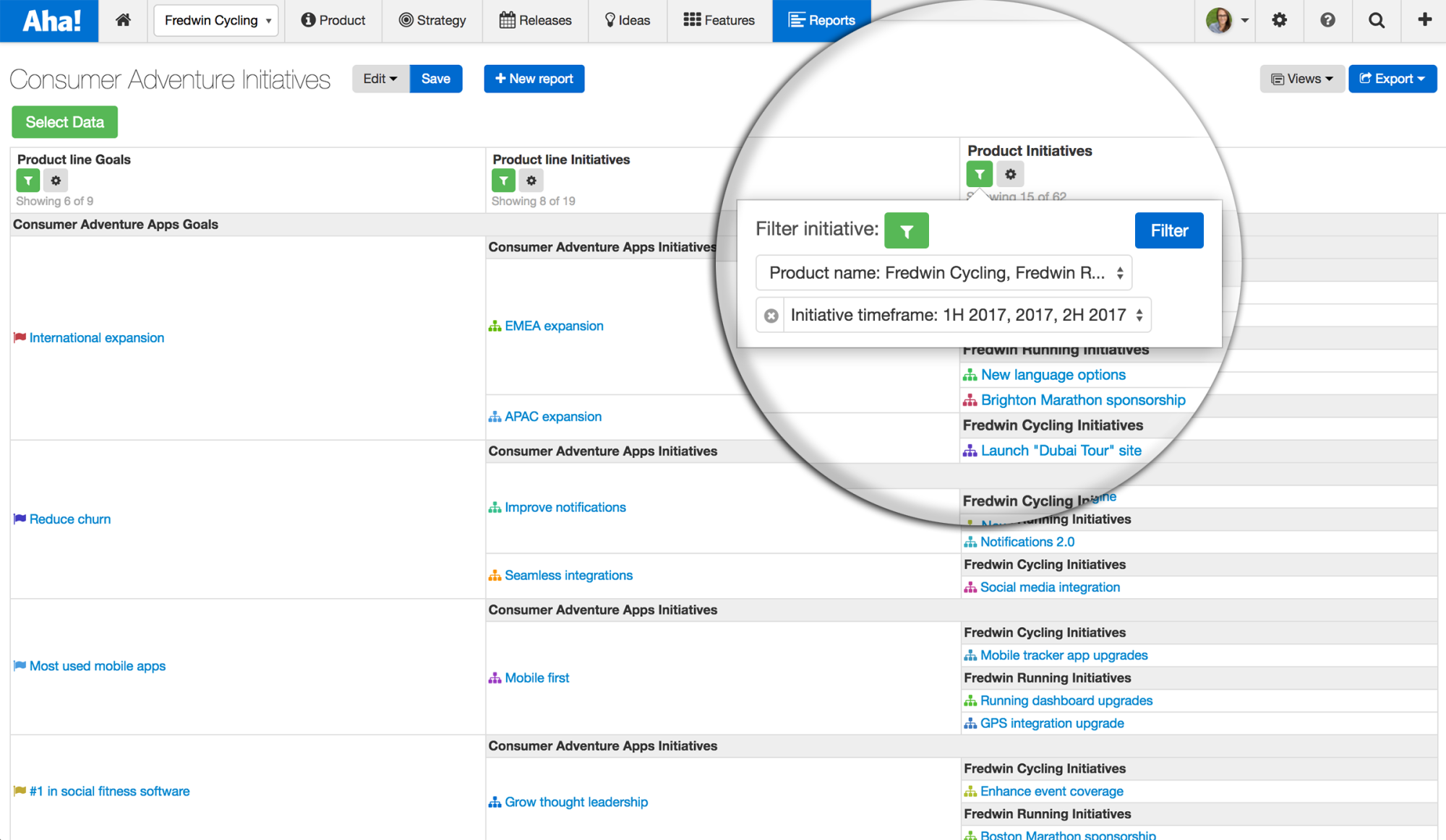 Blog - Just Launched! — Visualize Status of Initiatives Across Your Product Portfolio - inline image