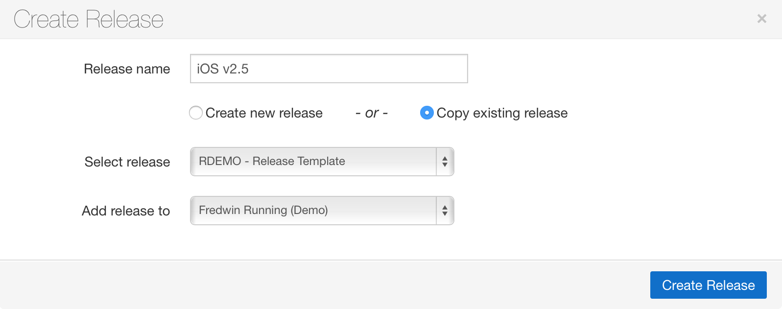 Blog - Just Launched! — Duplicate An Entire Release and All Its Features - inline image