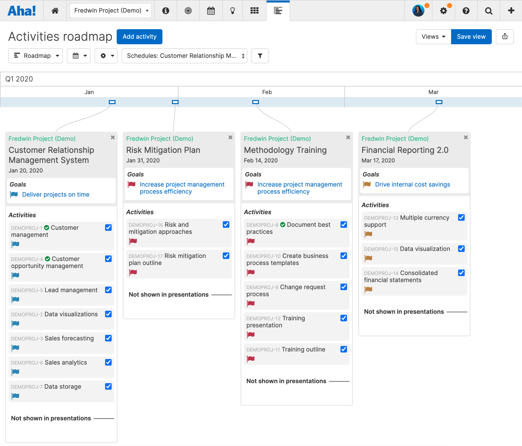 Support - Explore a project workspace in your account - inline image (activities roadmap)