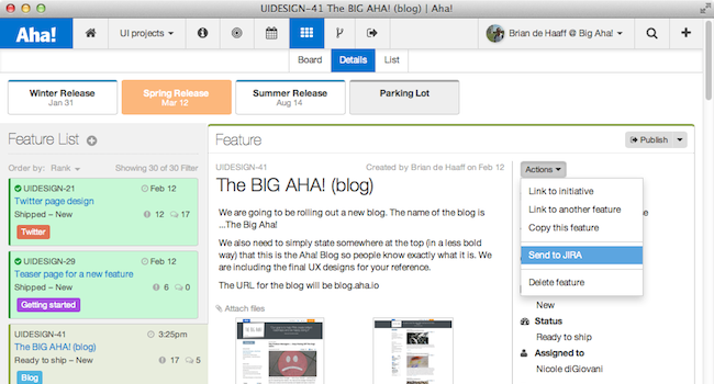 Aha! Launches Visual Product Roadmaps for Jira