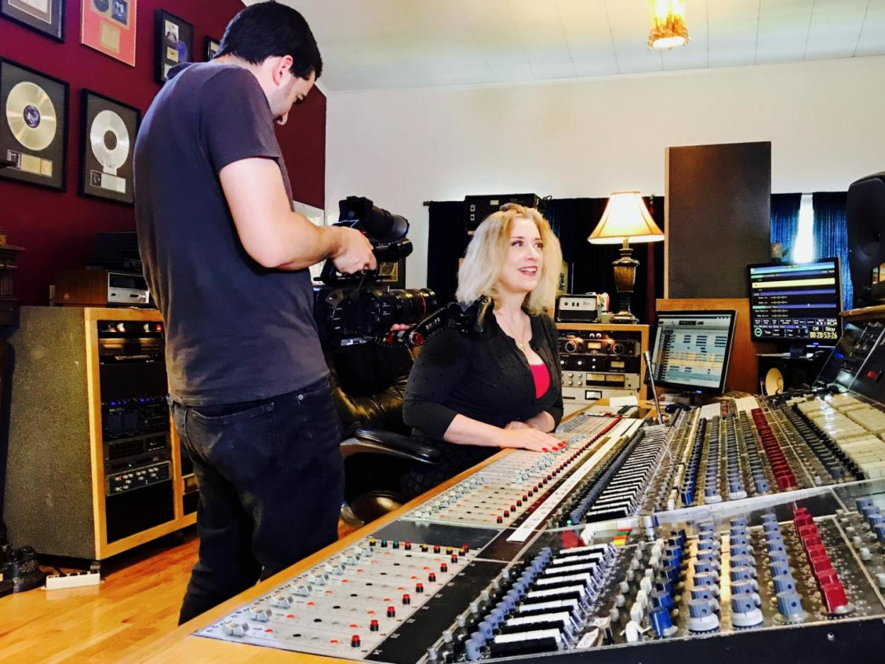 Record Producer Sylvia Massy with the Genelec 8351s 2017 Interview
