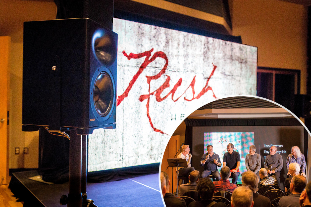 Photo from the Rush 'Hemispheres' listening event.