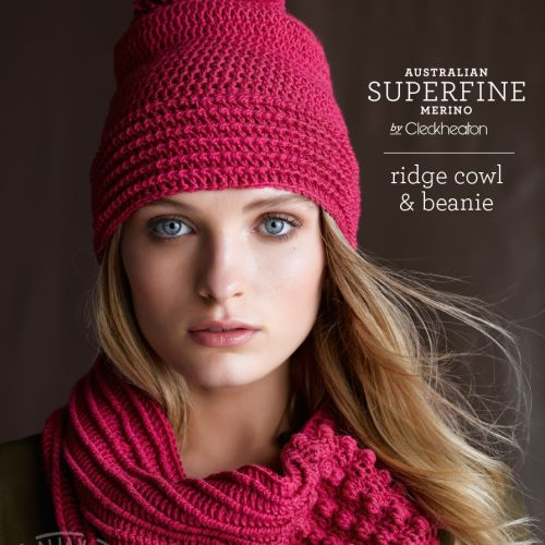 Colour pictured - 60 - Raspberry. 3 Balls required for cowl, 2 balls required for beanie.