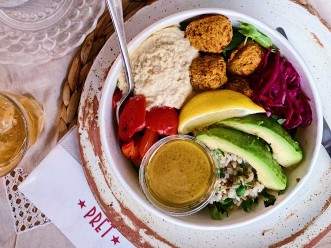 Falafel & Humous Rice Bowl