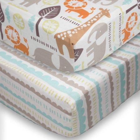 Poppi Living Safari 2pk Premium Cotton Fitted Crib Sheets - $23.26