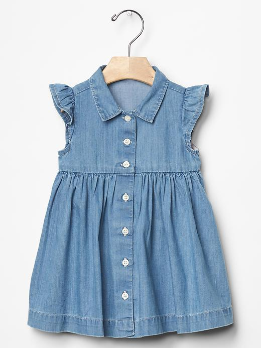 Denim Shirt Dress - $39.95