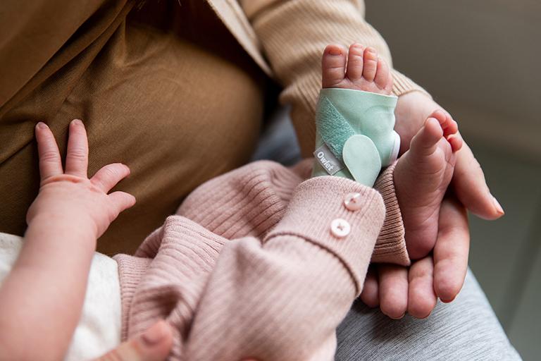 Owlet Smart Sock on baby photo