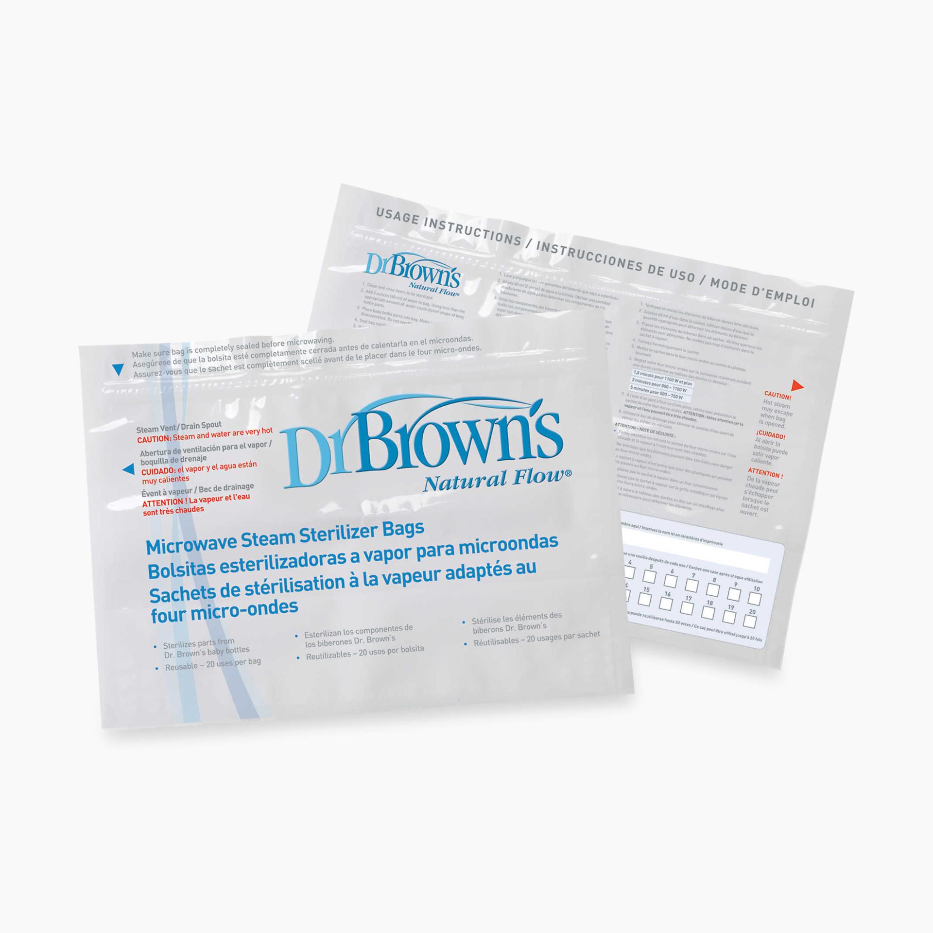 Dr Brown Smicrowave Steam Sterilizer Bags
