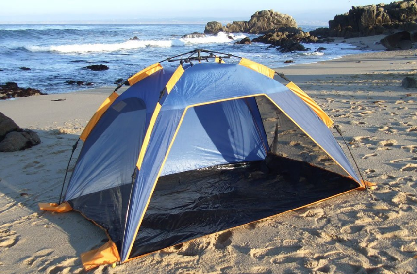 Push-up Instant Beach Tent Beach Sunshelter - $49.69 & Best Baby Beach Tents