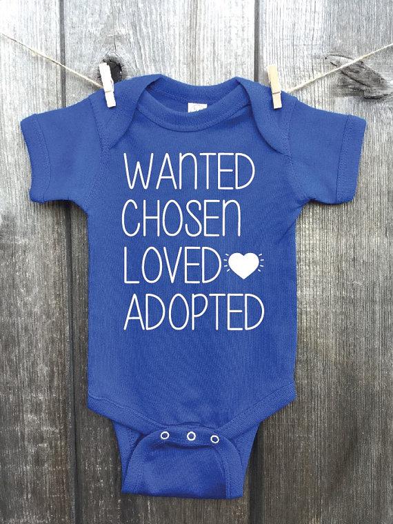 Adoption Bodysuit - $16.00