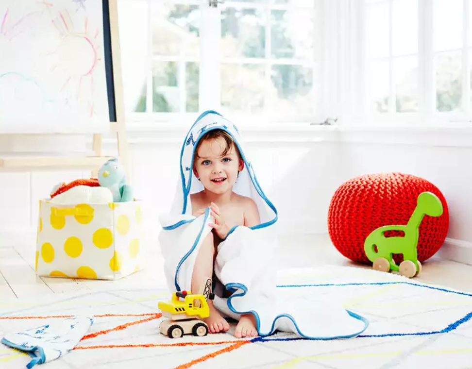 Organic Cotton Hooded Towel & Washcloth Set - $41.21