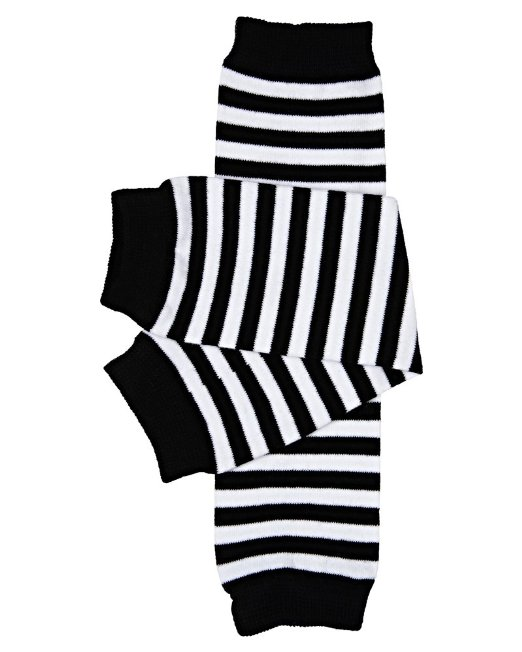Black-and-White Striped Baby Legwarmers - $7.50