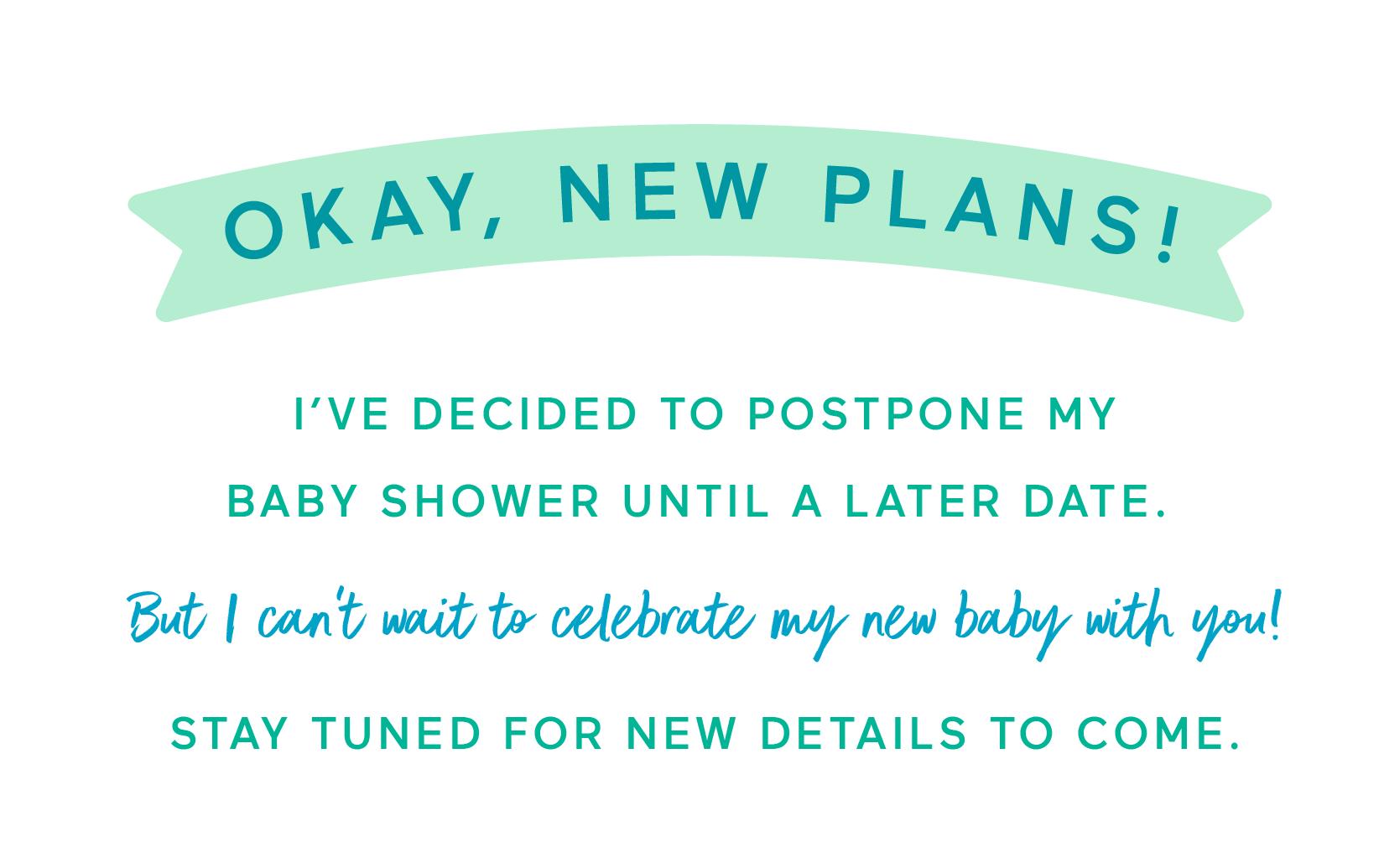 Baby Shower Postponement Cards from Babylist