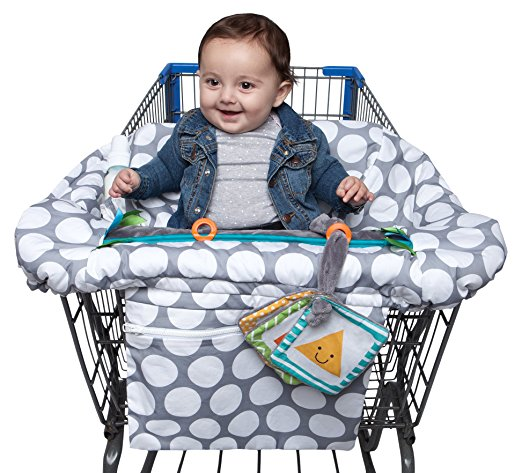 Luxe Shopping Cart and High Chair Cover - Jumbo Dot - $39.99