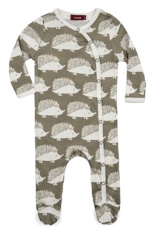 Milkbarn Organic Cotton Long Sleeve Footed Romper  - $31.00