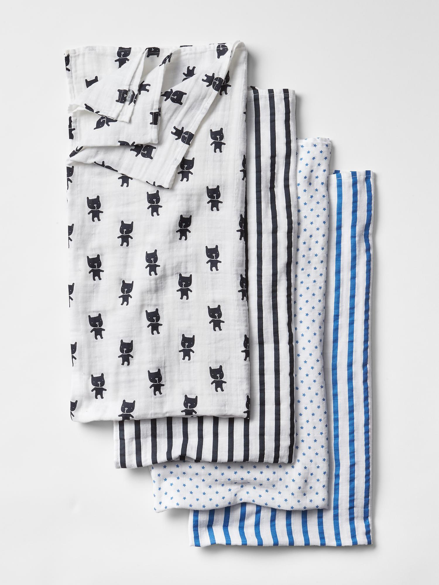 Aden + Anais Print Swaddle Blanket (4-pack) - $69.95
