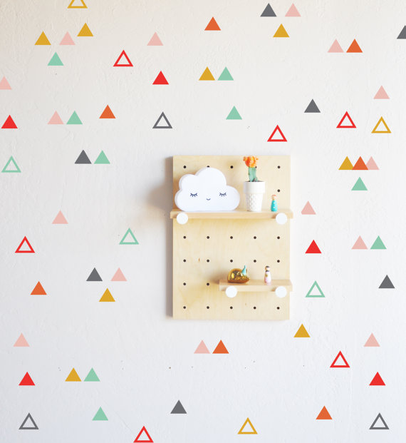 Playful Triangle Combo Wall Decal - $30.00