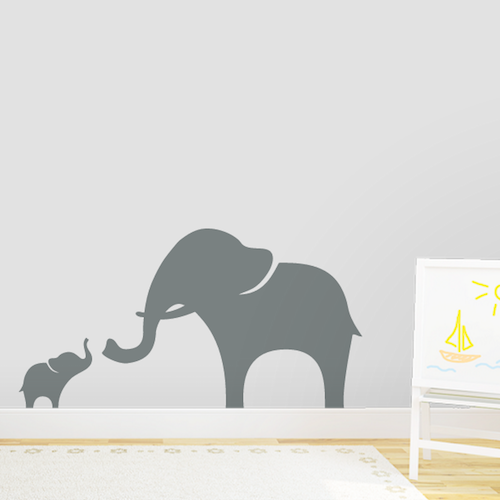 Mama and Baby Elephant Wall Decal - $29.99