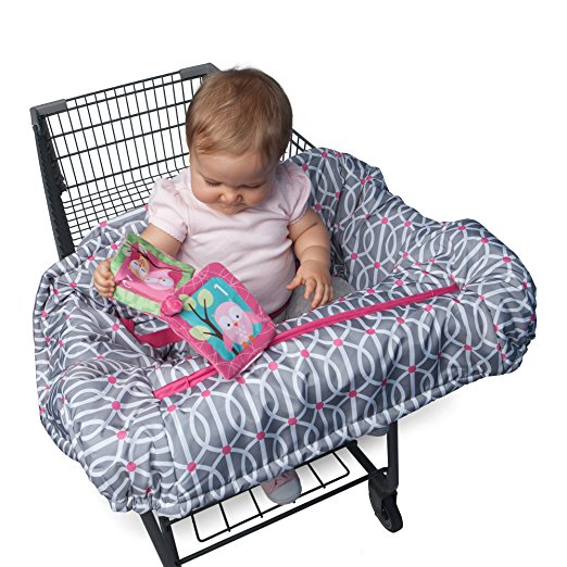 Shopping Cart and High Chair Cover - Park Gate Gray/Pink - $29.99