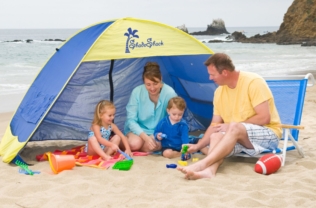 Shade Shack Instant Pop Up Family Beach Tent - $49.95 & Best Baby Beach Tents