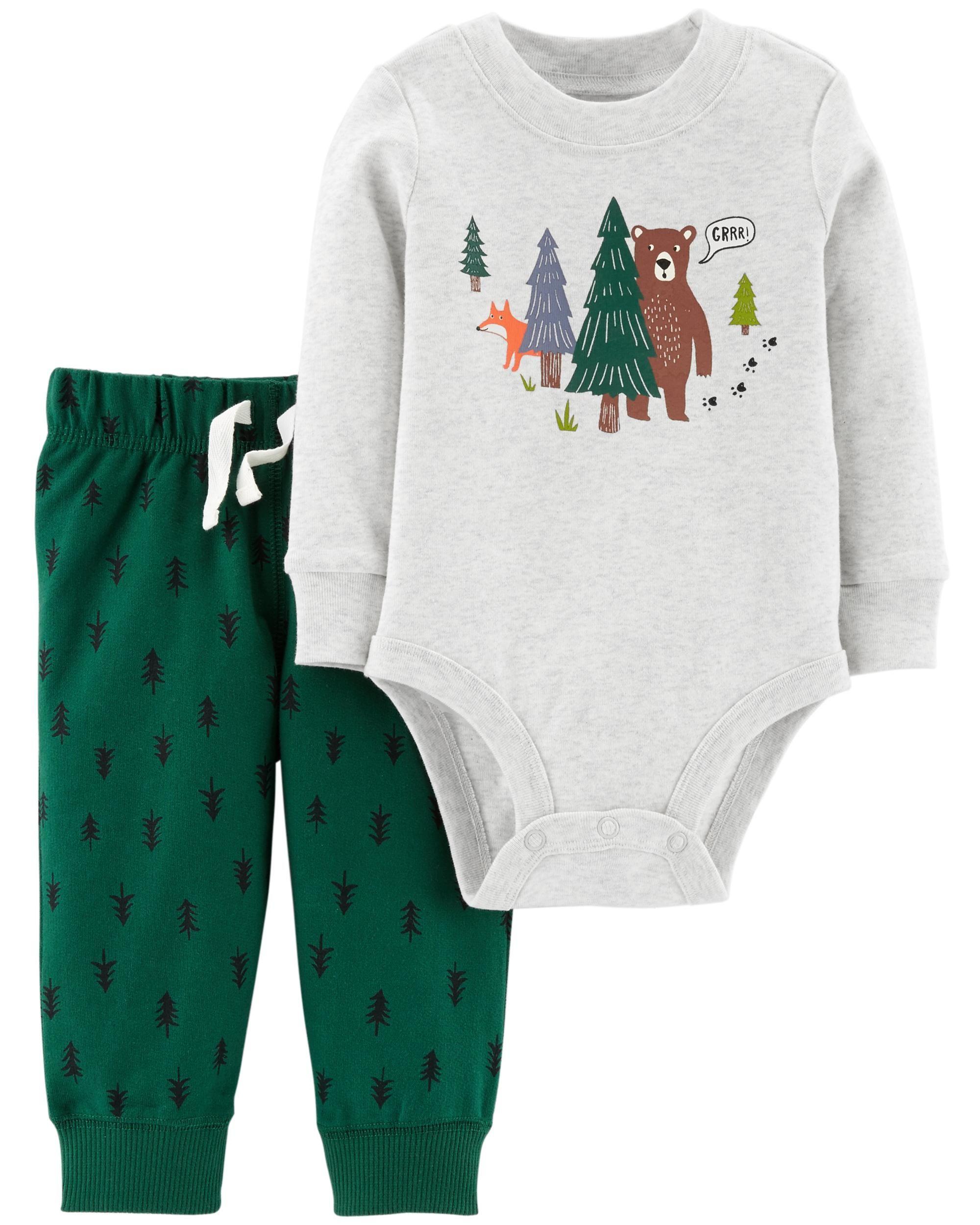 df32733e09690 2-Piece Bodysuit Pant Set -  10.00