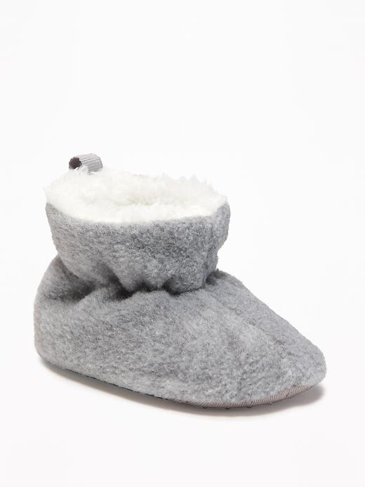 Micro Fleece Pull-On Booties for Baby - $8.40