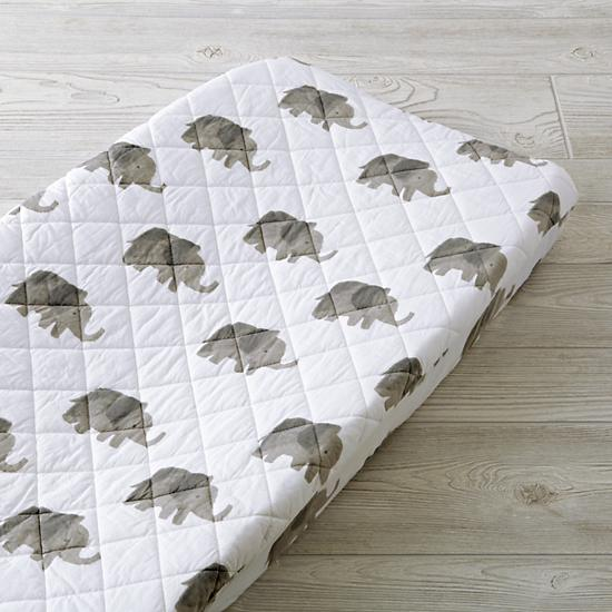 Wild Excursion Elephant Changing Pad Cover - $35.00