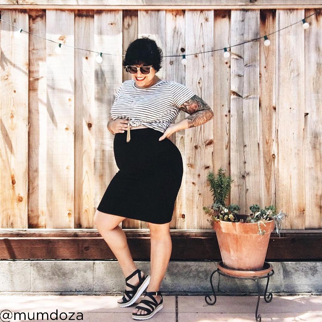 20 weeks pregnant belly bump size @mumdoza