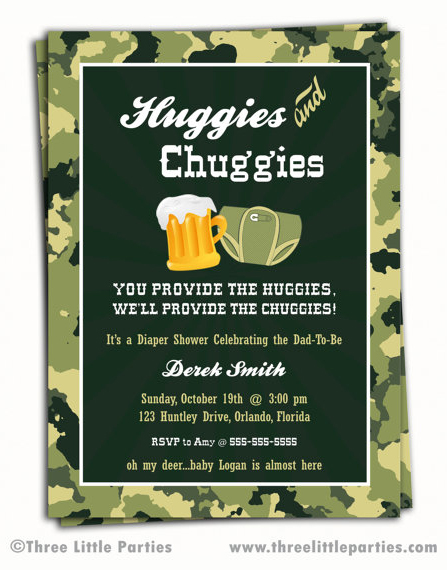 Beer and Diaper Shower Invitation - $13.00