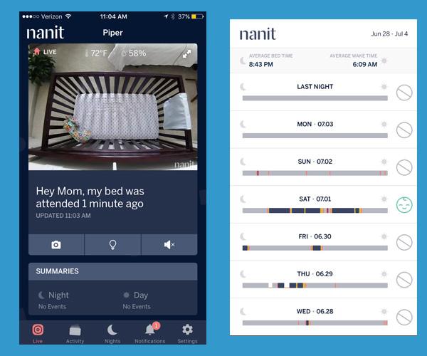 Nanit Baby Monitor App Screenshots