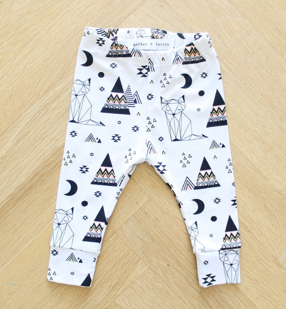Organic Geometric Cat Leggings - $17.00