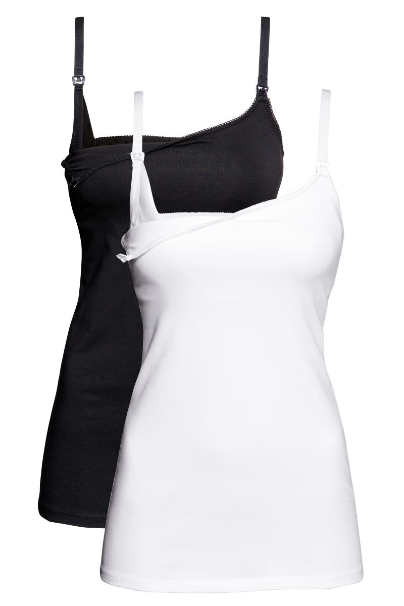 0d9eb4bc8d7fa H&M: A Little Bit of Everything. MAMA 2-pack Nursing Tank Tops ...