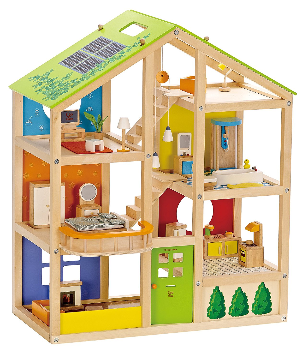 Images of doll houses - Hape All Seasons Kid S Wooden Doll House 140 64